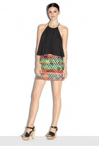 Milly Stretch Silk Crepe Cropped Tank