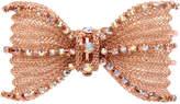 Betsey Johnson Rose Gold-Tone Crystal Mesh Bow Hinged Bangle Bracelet