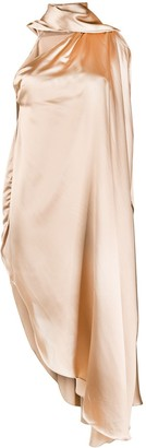 MM6 MAISON MARGIELA Draped One-Shoulder Satin Dress