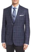 Men's John W. Nordstrom Classic Fit Plaid Wool Blend Sport Coat