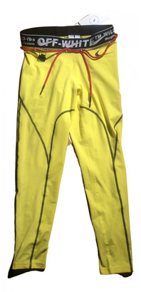 Nike x Off-White Yellow Trousers for Women