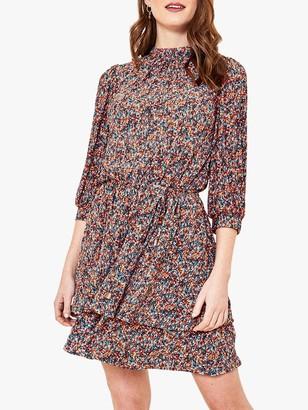 Oasis Ditsy Print Skater Dress, Multi