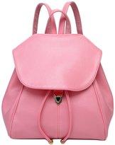 Janeyer® Janeyer Womens Fashion Pure Color Pu Lether Schoolbag Backpack Shoulder Bag