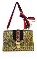 Gucci Sylvie Metallic Jacquard & Web Shoulder Bag