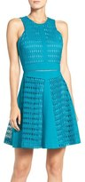 Adelyn Rae Lace Fit & Flare Dress