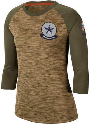 Nike Women Dallas Cowboys Salute To Service Legend Raglan T-Shirt