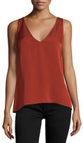 Theory Narcyz Modern Georgette Pleat-Back Top