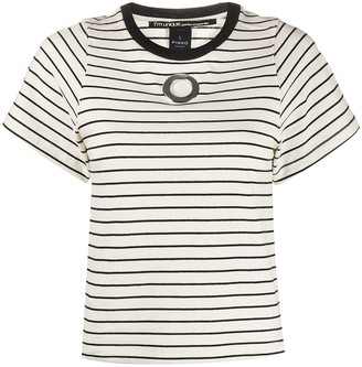 Pinko eyelet detail striped T-shirt