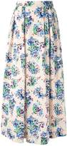 MSGM floral maxi skirt