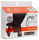 Just My Size Women's Nylon Comfort Reinforced Toe Outside Knee High Panty Hose
