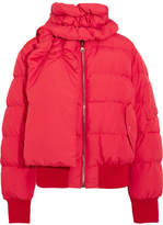Magda Butrym Starling Quilted Shell Down Jacket - Red
