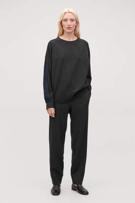 Cos WOVEN-JERSEY MIX TROUSERS
