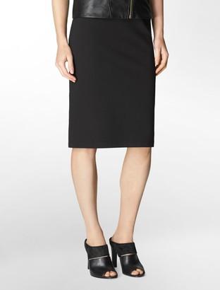 Wide Waist Stretch Pencil Skirt