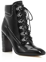 Sigerson Morrison Valora Studded Lace Up Block Heel Booties - 100% Exclusive