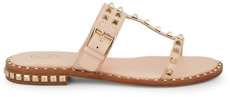Ash Prince Studded Leather T-Strap Sandals