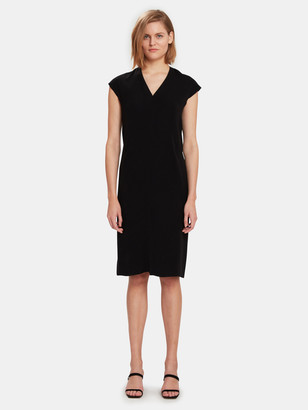 Vince V-Neck Pencil Midi Dress