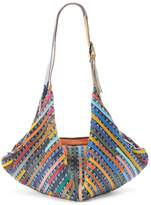 AmeriLeather Peranda Striped Patchwork Convertible Hobo with Coin Purse