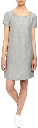 Theory Linen Blend Shift Dress