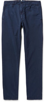 Incotex Slim-fit Stretch-cotton Twill Chinos - Storm blue