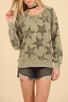 Vintage Havana Star Raglan Lace Sweatshirt
