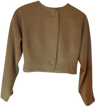 Emmanuelle Khanh Green Wool Jacket for Women Vintage