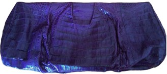 Nancy Gonzalez Purple Crocodile Clutch bags