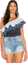 Backstage Empire Sleeveless Top in Navy. - size L (also in M,S,XS,XXS)