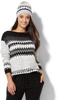 New York & Co. Lounge - Double Fair Isle Sweater