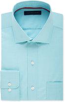 Tommy Hilfiger Men's Classic-Fit Non-Iron Aqua Micro-Grid Dress Shirt