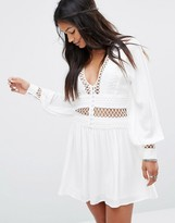 Free People I Think I Love You Dress with Cut Work