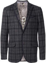 Etro check single breasted jacket