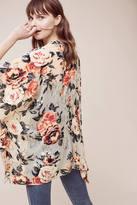 Anthropologie Naissa Velvet Kimono