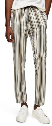 Topman Topshop Whyatt Stripe Crop Trousers