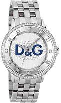 Dolce & Gabbana Women's Quartz Watch with White Dial Analogue Display and Silver Stainless Steel Strap DW0133