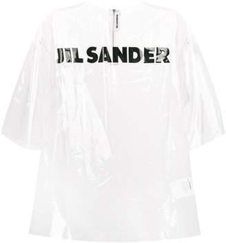 Jil Sander logo print transparent T-shirt