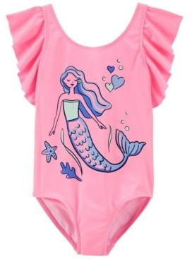 Carter's Big Girls Mermaid Swimsuit, 1 Piece