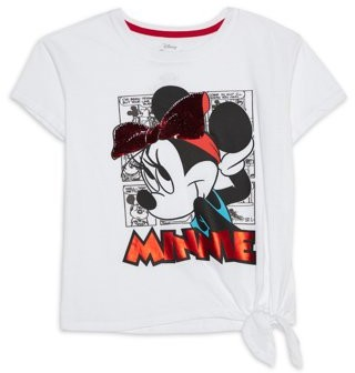 Minnie Mouse Girls 4-16 Side-Tie Graphic T-Shirt