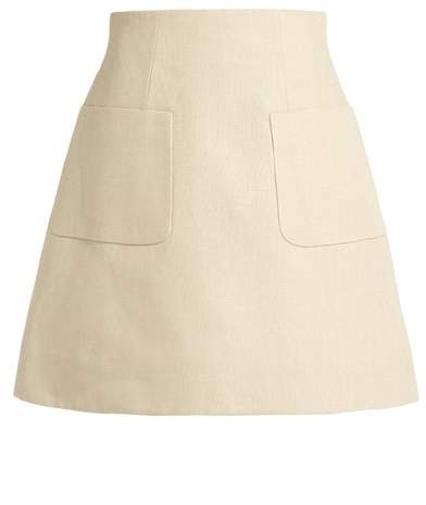 DELPOZO A-line linen mini skirt
