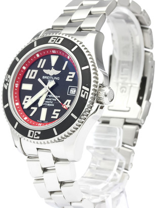 Breitling Black/RedStainless Steel Superocean Automatic A17364 Men's Wristwatch 42 MM