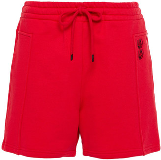 McQ Embroidered French Cotton-terry Shorts