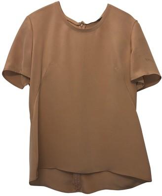 Alexander McQueen Beige Silk Top for Women