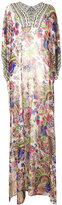 Roberto Cavalli floral print maxi dress - women - Silk/Polyester/Viscose - 48