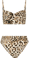 Norma Kamali Leopard-print Bikini - Light brown