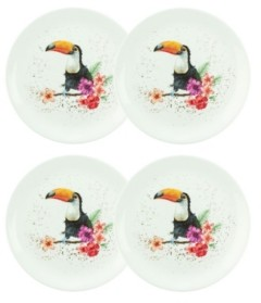 Royal Worcester Wrendale Toucan of my Affection Plate Set/4