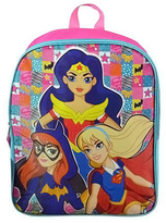 Pink & Blue Superhero Girls Backpack