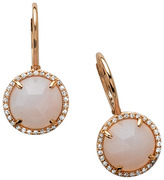 Majolie Collections majolie pink opal circle earrings
