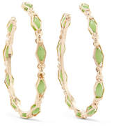 Rosantica Destino Gold-tone Crystal Hoop Earrings - Green