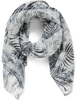 BOSS ORANGE Nabamboo Palm Printed Scarf