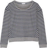 Splendid Sierra Falls striped cotton-blend sweatshirt