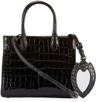 Alaia Elizinha Small Alligator Top-Handle Bag